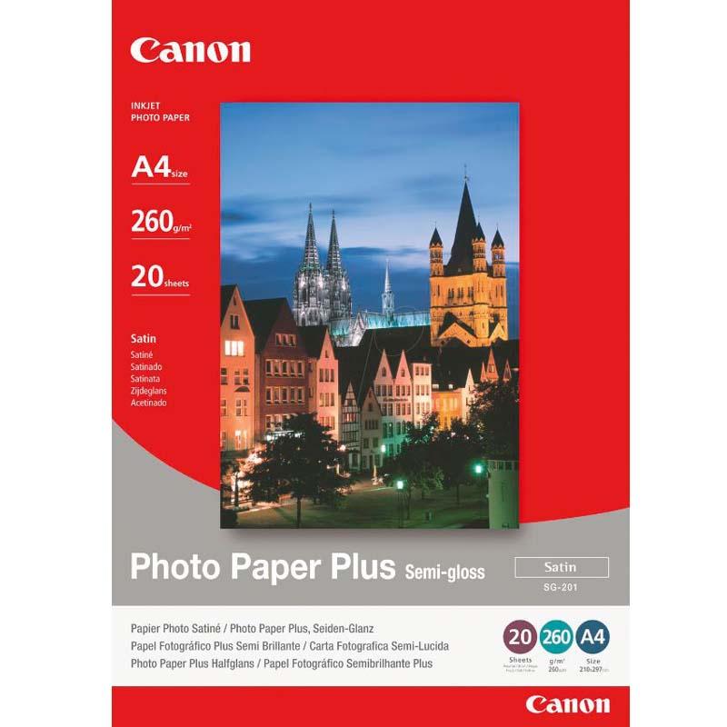 Canon SG-201 (A4) Semi-Gloss Photo Paper 260g (20 Sheets)