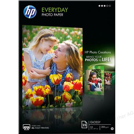 HP Q5451A Everyday Glossy Photo Paper A4 (25 sheets)