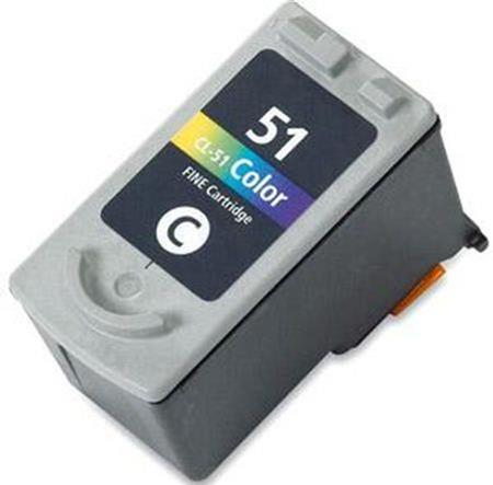 Compatible Colour Canon CL-51 High Capacity Ink Cartridge (Replaces Canon 0618B001)