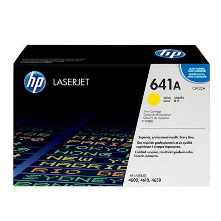 HP Colour LaserJet 641A Yellow Original Toner Cartridge with Smart Printing Technology (C9722A)