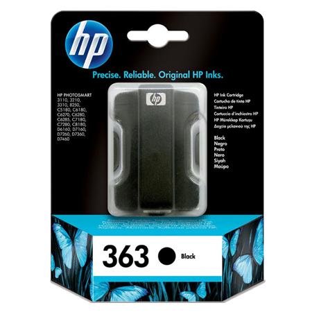 HP 363 Black Original Ink Cartridge with Vivera Ink