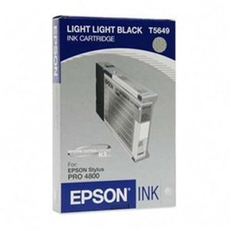 Epson T5649 (T564900) Light Light Black Standard Capacity Original Ink Cartridge
