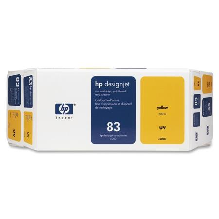 HP 83 Yellow Pigment-Based UV-Resistant Ink Cartridge  Printhead  Printhead Cleaner Value Pack