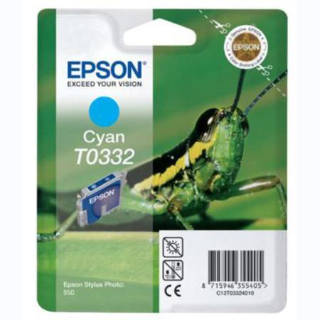 Epson T0332 (T033240) Cyan Original Ink Cartridge (Grasshopper)