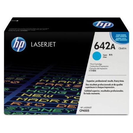 HP Colour Laserjet 642A Cyan Toner Cartridge with HP Colorsphere Toner (CB401A)