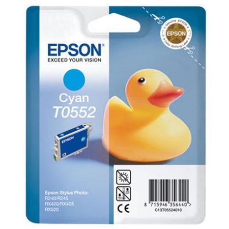 Epson T0552 (T055240) Cyan Standard Capacity Original Ink Cartridge (Duck)