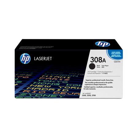 HP Colour LaserJet 308A Black Original Toner Cartridge with Smart Printing Technology (Q2670A)