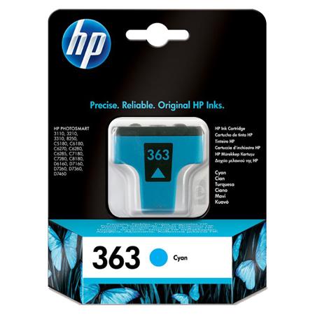 HP 363 Cyan Original Ink Cartridge with Vivera Ink