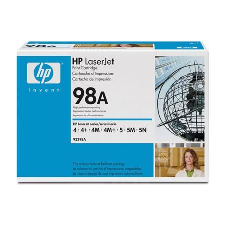 HP LaserJet 92298A Black Original Standard Capacity Toner Cartridge with Microfine Toner