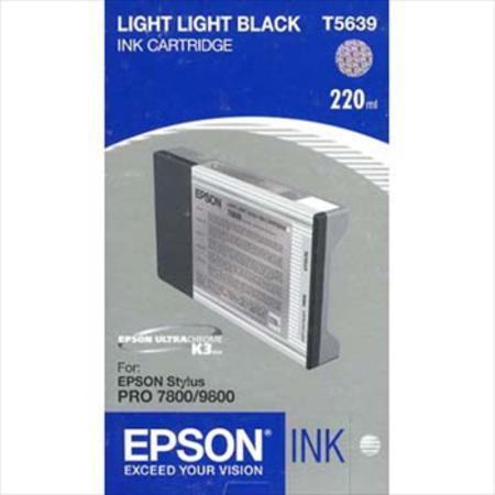 Epson T5639 (T563900) Light Light Black High Capacity Original Ink Cartridge