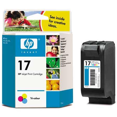 HP 17 Tri-Colour Original Inkjet Print Cartridge