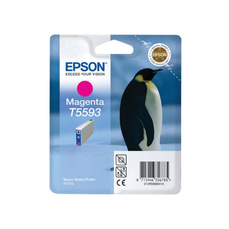 Epson T5593 (T559340) Magenta Original Ink Cartridge (Penguin)