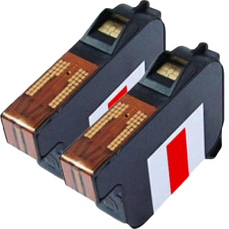 Compatible Red Pitney Bowes DE6128 (DP200) Ink Cartridge - 2 Pack
