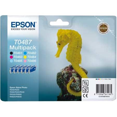 Epson T0487 (T048740) Original Ink Cartridge Multipack (Seahorse)