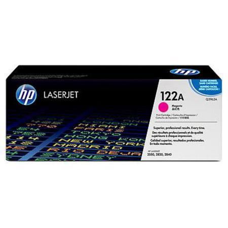 HP Colour LaserJet 122A Magenta Original Toner Cartridge with Smart Printing Technology (Q3963A)