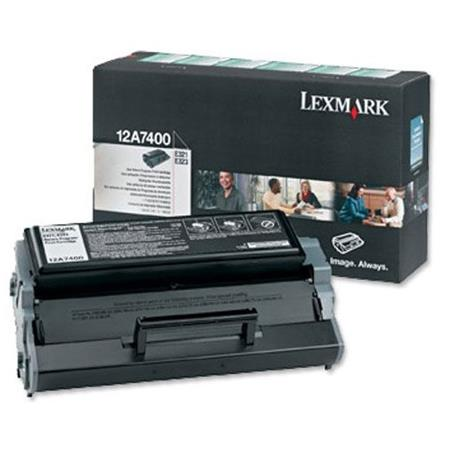 Lexmark 12A7400 Original Black Standard Capacity Toner Cartridge