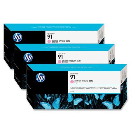 HP 91  Light Magenta Original Ink Cartridge with Vivera Ink 3 Pack