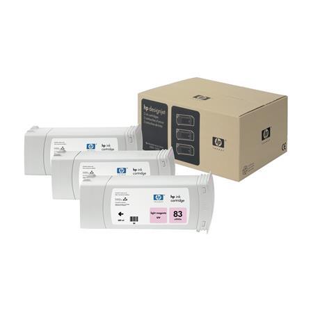 HP 83 Light Magenta UV Original 3 Ink Multipack