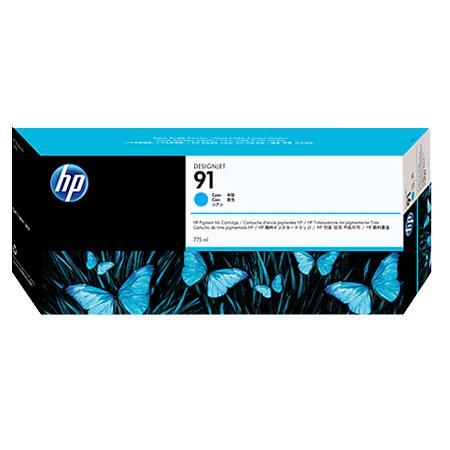 HP 91 Pigmented Cyan Original Ink Cartridge with Vivera Ink