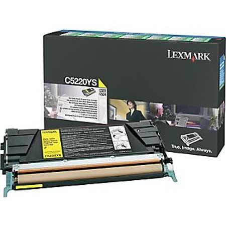 Lexmark C5220YS Original Yellow Return Program Toner Cartridge