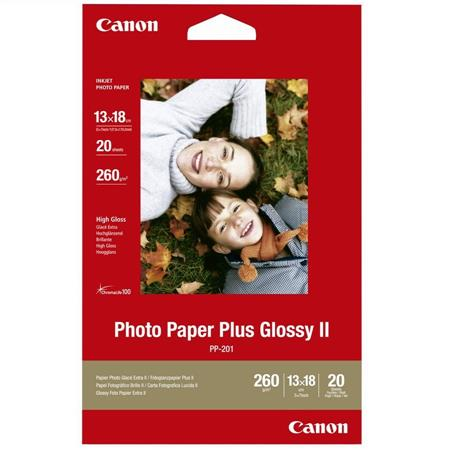 """Canon Paper PP-201 Photo Paper Plus Glossy II 260gsm 13x18cm (5x7"""") - 20 Sheets"""