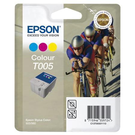 Epson T005 (T005011) Colour Original Ink Cartridge (Cyclist)