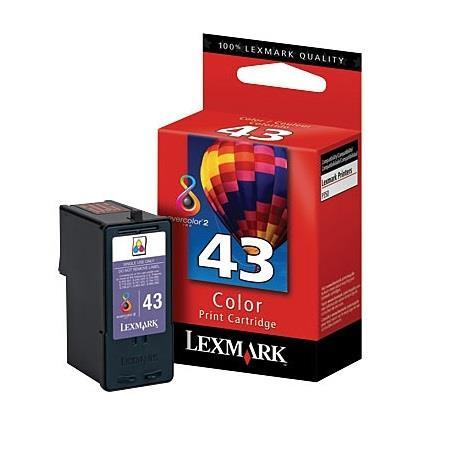 Lexmark No.43  Colour Original Ink Cartridge (18Y0143E)