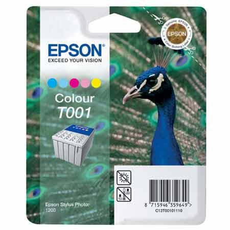 Epson T001 (T001001) Colour Original Ink Cartridge (Peacock)