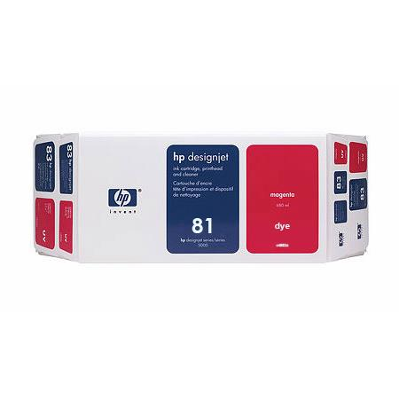 HP 81 Magenta Dye-Based Ink Cartridge  Printhead and Printhead Cleaner Bundle - Value Pack