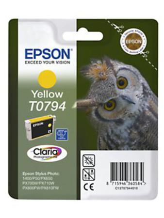 Epson T0794 (T079440) Yellow Original Ink Cartridge (Owl)