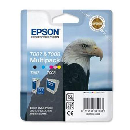 Epson T007/T008 (T007403) Original Ink Cartridge Multi Pack (Eagle and Parrot)