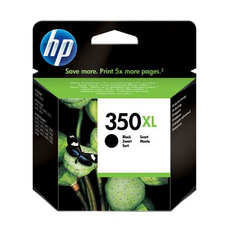 HP 350XL Black High Capacity Original Ink Cartridge with Vivera Ink
