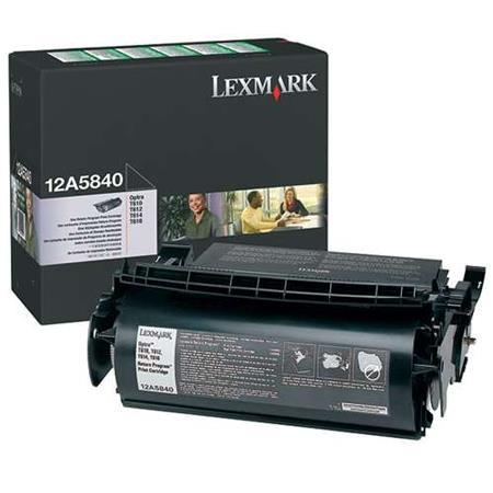 Lexmark 12A5840 Original Black Prebate Standard Capacity Toner Cartridge