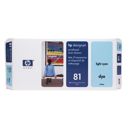 HP 81 Light Cyan Dye-Based Printhead and Printhead Cleaner Bundle