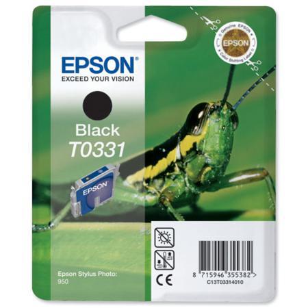 Epson T0331 (T033140) Black Original Ink Cartridge (Grasshopper)