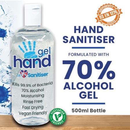 Liquid Gel Hand Sanitiser 70% Alcohol - 500ml