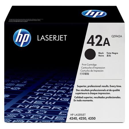 HP LaserJet Q5942A Black Original Standard Capacity Toner Cartridge with Smart Printing Technology