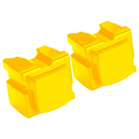 Compatible 2 x Yellow Xerox 108R00933 Solid Wax Ink
