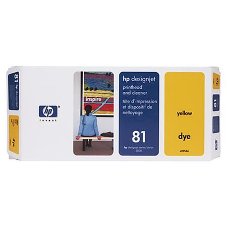 HP 81 Yellow Dye-Based Printhead and Printhead Cleaner Bundle