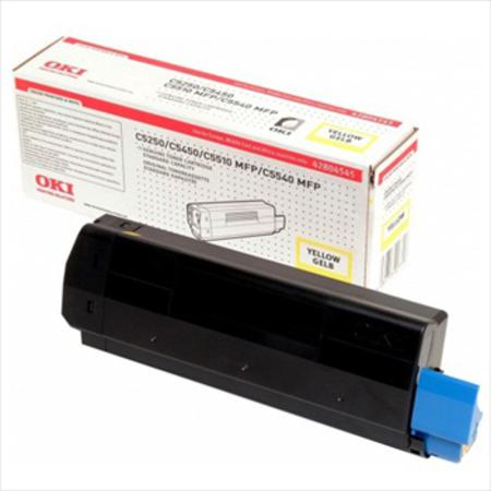 OKI 42804545 Original Yellow Standard Capacity Toner Cartridge