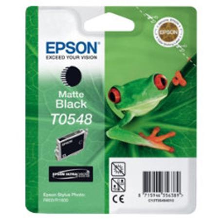 Epson T0548 (T054840) Matte Black Original Ink Cartridge (Frog)