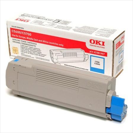 OKI 43381907 Original Cyan Toner Cartridge