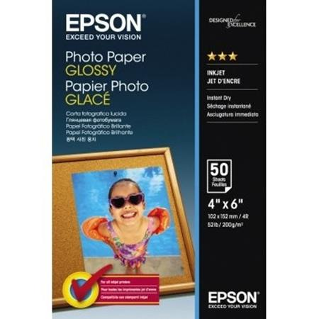 Epson Glossy Photo Paper 200gsm 10 x 15cm (4 x 6) (50 Sheets)