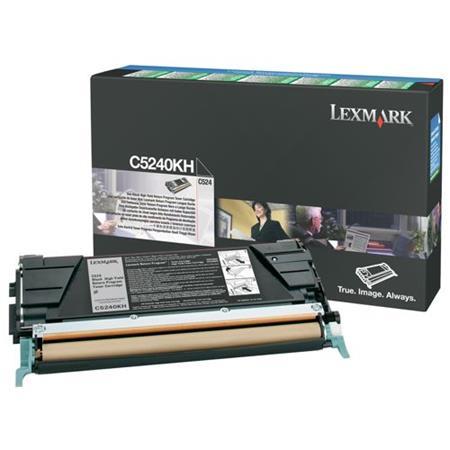 Lexmark C5240KH Original Black High Capacity Return Program Toner Cartridge