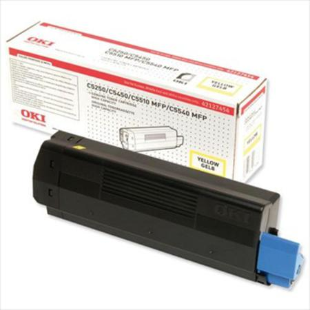 OKI 42127454 Original Yellow High Capacity Toner Cartridge