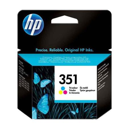 HP 351 Tri-Colour Original Ink Cartridge with Vivera ink