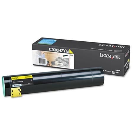 Lexmark C930H2YG Original Yellow High Yield Toner Cartridge