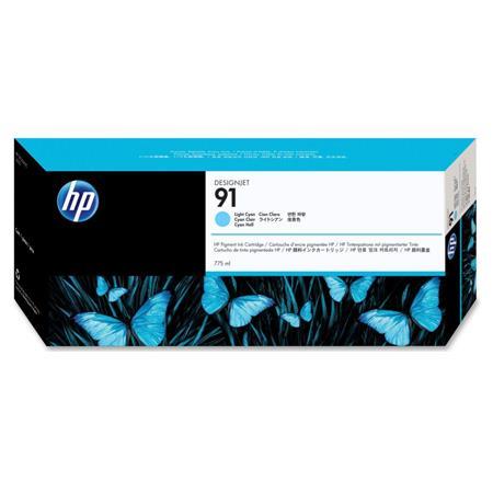 HP 91 Pigmented Light Cyan Original Ink Cartridge with Vivera Ink