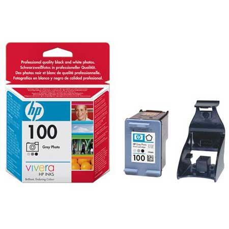 HP 100 Grey Photo Original Specialty Inkjet Print Cartridge with Vivera Inks