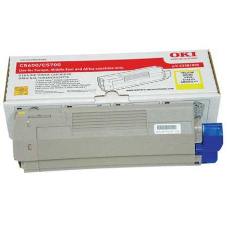 OKI 43381905 Original Yellow Toner Cartridge